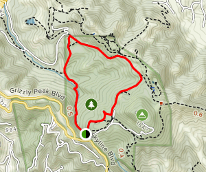 Round Top, Volcanic, and Bay Area Ridge Trail Loop Map