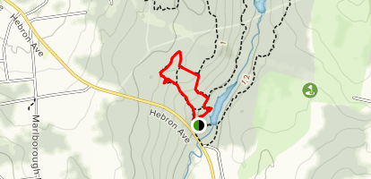 Blackledge Falls via Blue and White Trails Loop Map