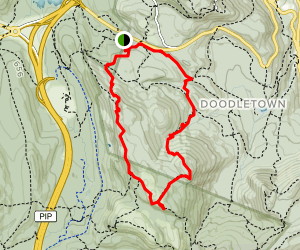 West Mountain Shelter Loop Map