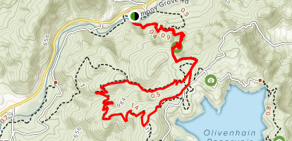 Way Up Trail, Harmony Grove Overlook, and Equine Incline Loop Map