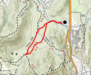 Charles M. Christiansen Traill 100 to Trail 306 Loop Map