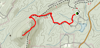 Turnback Trail to the Pinnacle Map