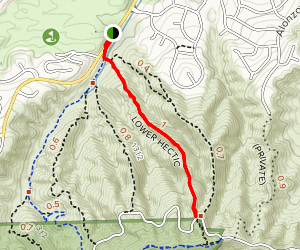 Lower Hectic Trail Map