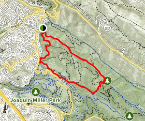 Stream Trail and West Ridge Trail Loop Map