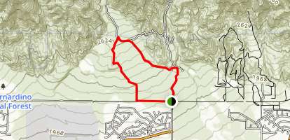 North Etiwanda Preserve Loop Map