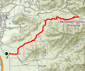 Gateway Trail to Windgate Pass Map