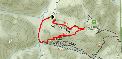 Hotel Trail to Toyon Trail Map
