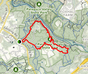 Cascade Falls Trail to Lewis and Clark Trail Loop Map