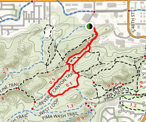 Beverly Canyon Trail Loop Map