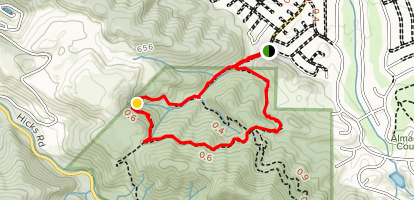 Guadalupe and Mine Hill Loop Map