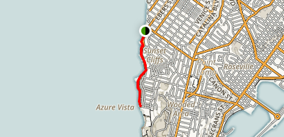 Sunset Cliffs Trail Map