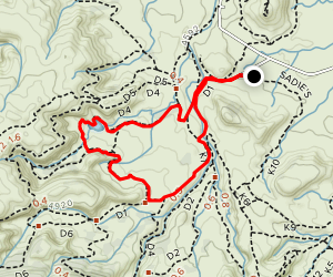 D1 and D4 Loop Trail Map
