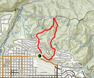 Bobsled Trail to Valley View and Terrace Trail from 11th Av Park Map