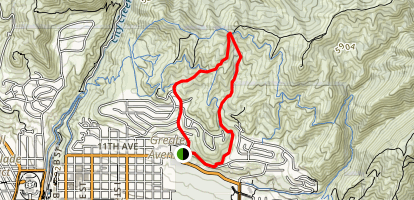 Bobsled, Valley View and Terrace Trail Loop Map