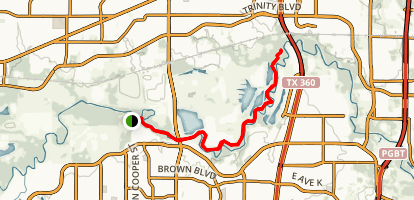 West Fork Trinity River Trail to River Legacy Park East Map