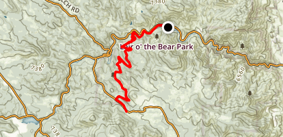 Bear Creek Trail to Paramlee Gulch Road Map
