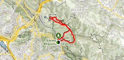 Round Top Loop Trail to Volcanic Trail Loop Map