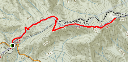 Appalachian Trail: Indian Grave Gap to Beauty Spot Map
