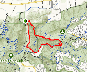 Canyon Overlook Trail to Wildwood Canyon Trail Loop Map