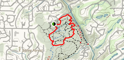 Sope Creek Short Loop Map