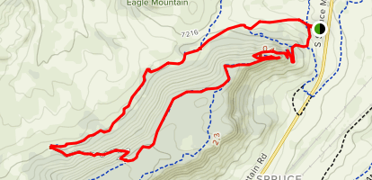 Spruce Mountain and Eagle Pass Trail Loop Map