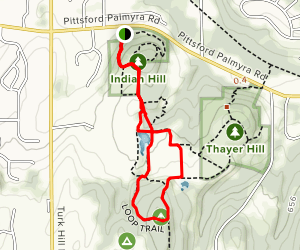 Indian Hill and Crescent Trail Loop Map