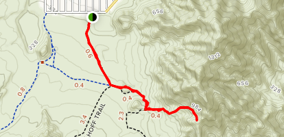 Cove Trail to Quarry Overlook Trail Map