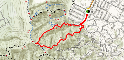 Coyote and Ahwingna Trail Loop Map
