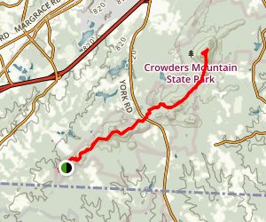 The Pinnacle via Ridgeline Trail and Boulders Access Map