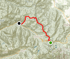 Scott's Bypass, Wasatch Crest and Mill D North Trail Map
