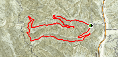 Freund Canyon Trail Map
