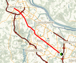 Washington and Old Dominion Trail: Sterling to Leesburg Map
