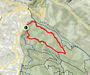 East Ridge, Phillips, Eucalyptus and Stream Trail Loop Map