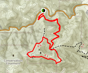 Mount Galbraith via Cedar Gulch Trail Map
