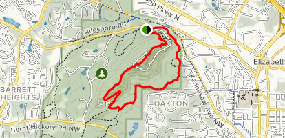 Kennesaw Mountain Overlook via West and East Trails Map