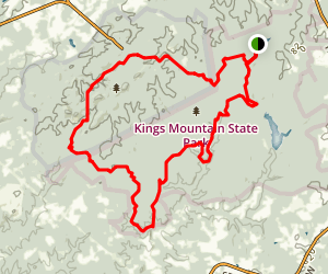 Kings Mountain National National Recreation Trail Map