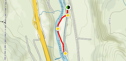 Truckee River and Sierra Pacific Power Canal Map
