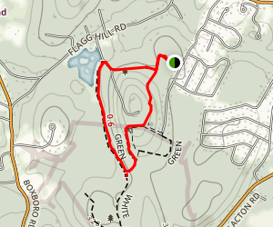 Flag Hill Green and Red Loop Map