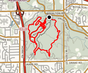 Yellow, Red and Royalview Loop Map