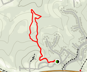 Greenway Primitive Trails: Red Trail Map