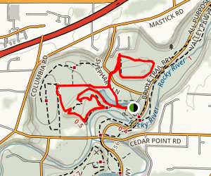Mount Pleasant, Wildlife Management and Fort Hill Loop Trail Map
