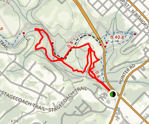 Lower Purgatory Creek Greenspace to Dante's Trail Loop Map