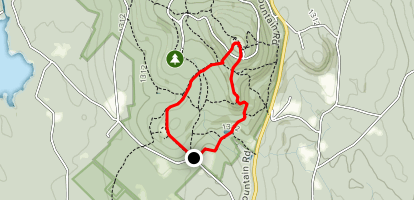 Harrington, Mountain House, Jack Frost, and High Meadow Trail Map