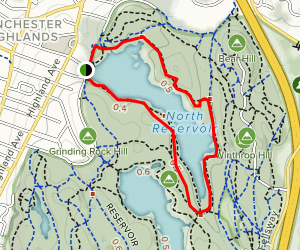 Willow Spring Path and North Dam Road Map