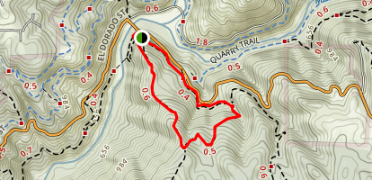 Pointed Rocks Firebreak Loop Trail Map