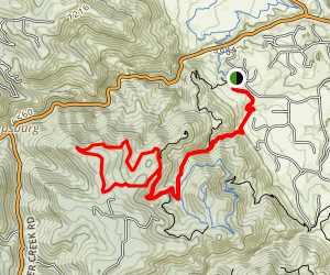 Plymouth Creek to Red Mesa Loop Map