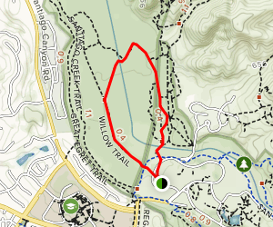 Roadrunner and Willow Trail Loop Map