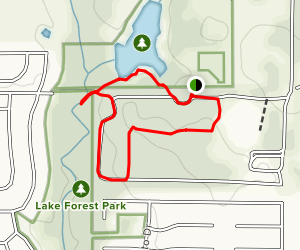 Wiggly Field Dog Park Loop Map