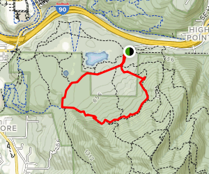 West Tiger 3, Talus Rocks, Section Line and Bus Trail Loop Map