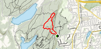 Blue/Red Trail to Metacomet Trail Loop Map